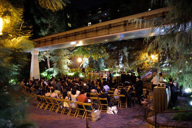 Brisa Courtyard Ceremony at Night