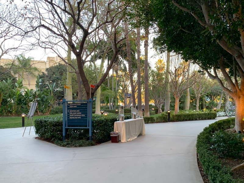 Walkway towards Rose Court Garden